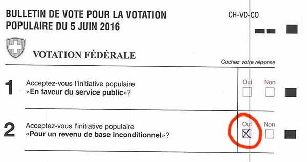 Stimmzettel für das BGE (FR)