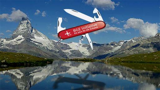 Schweizer Messer im Himmel von Matterhorn
