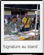 Signature au stand