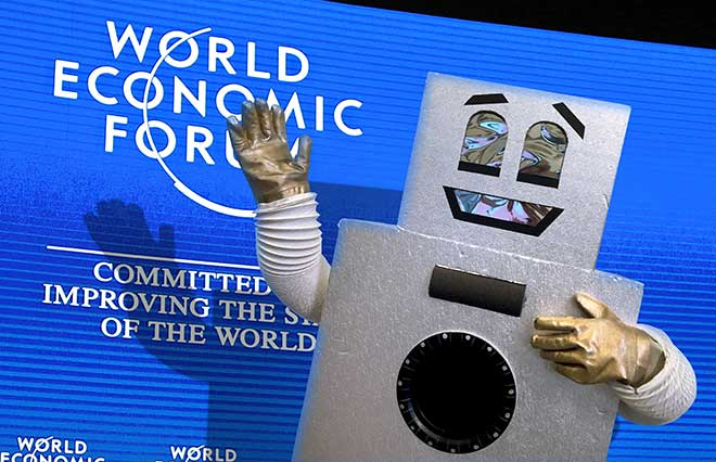 davos basic income dancing robot